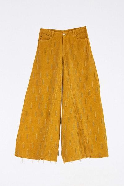 Beaded Corduroy Pants