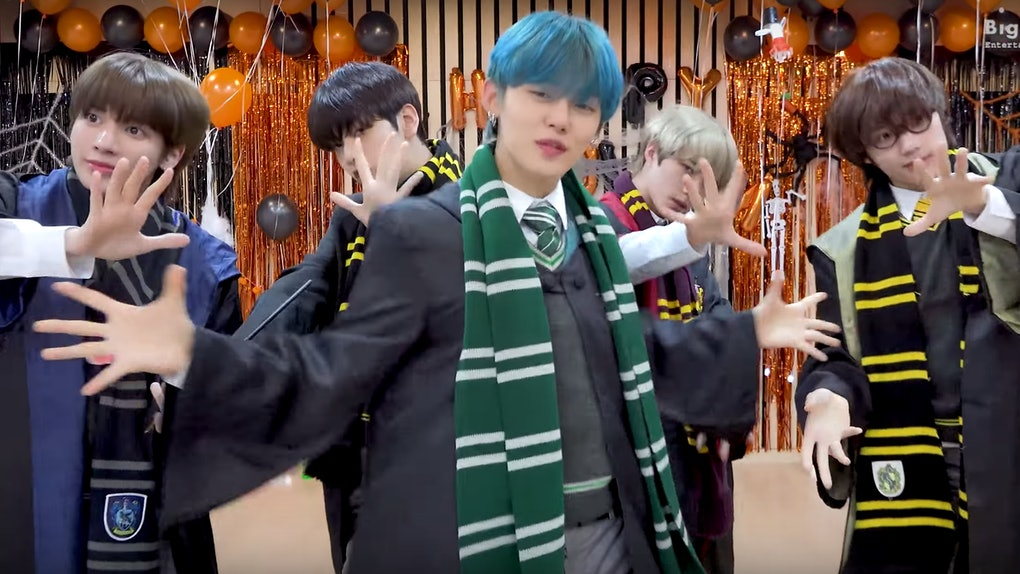 "TXT releases ""9 & Three Quarters"" Halloween dance video."