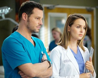 Alex and Jo, hard at work on 'Grey's Anatomy.'