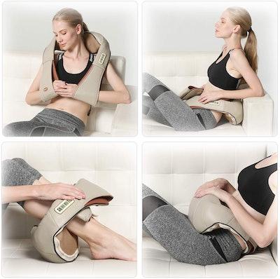 FIVE S Deep Tissue 3-D Kneading Shiatsu Massager Pillow