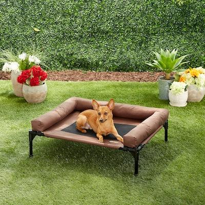 K&H Pet Products Original Bolster Dog & Cat Cot, Chocolate