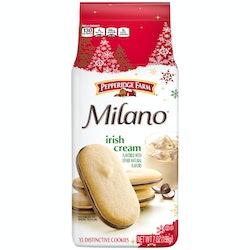 Pepperidge Farm's new holiday Milano flavors include Irish Cream and Caramel Macchiato.