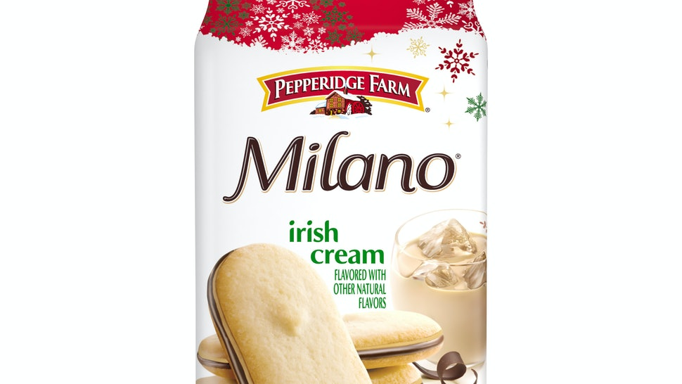 Pepperidge Farm's new holiday Milano flavors include Irish Cream and Caramel Macchiato.