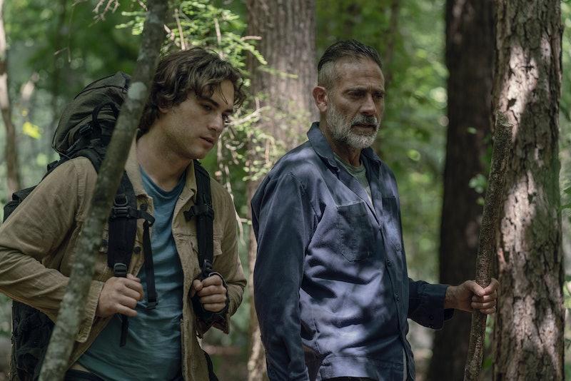 Jeffrey Dean Morgan as Negan and Blaine Kern III as Brandon in The Walking Dead Season 10, Episode 5