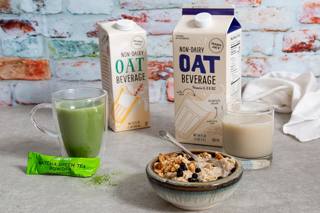 Trader Joe's new non-dairy Oat Beverages.