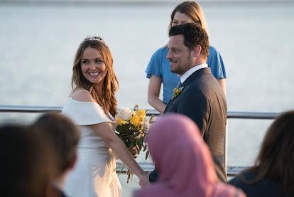 Jo and Alex get married on 'Grey's Anatomy.'