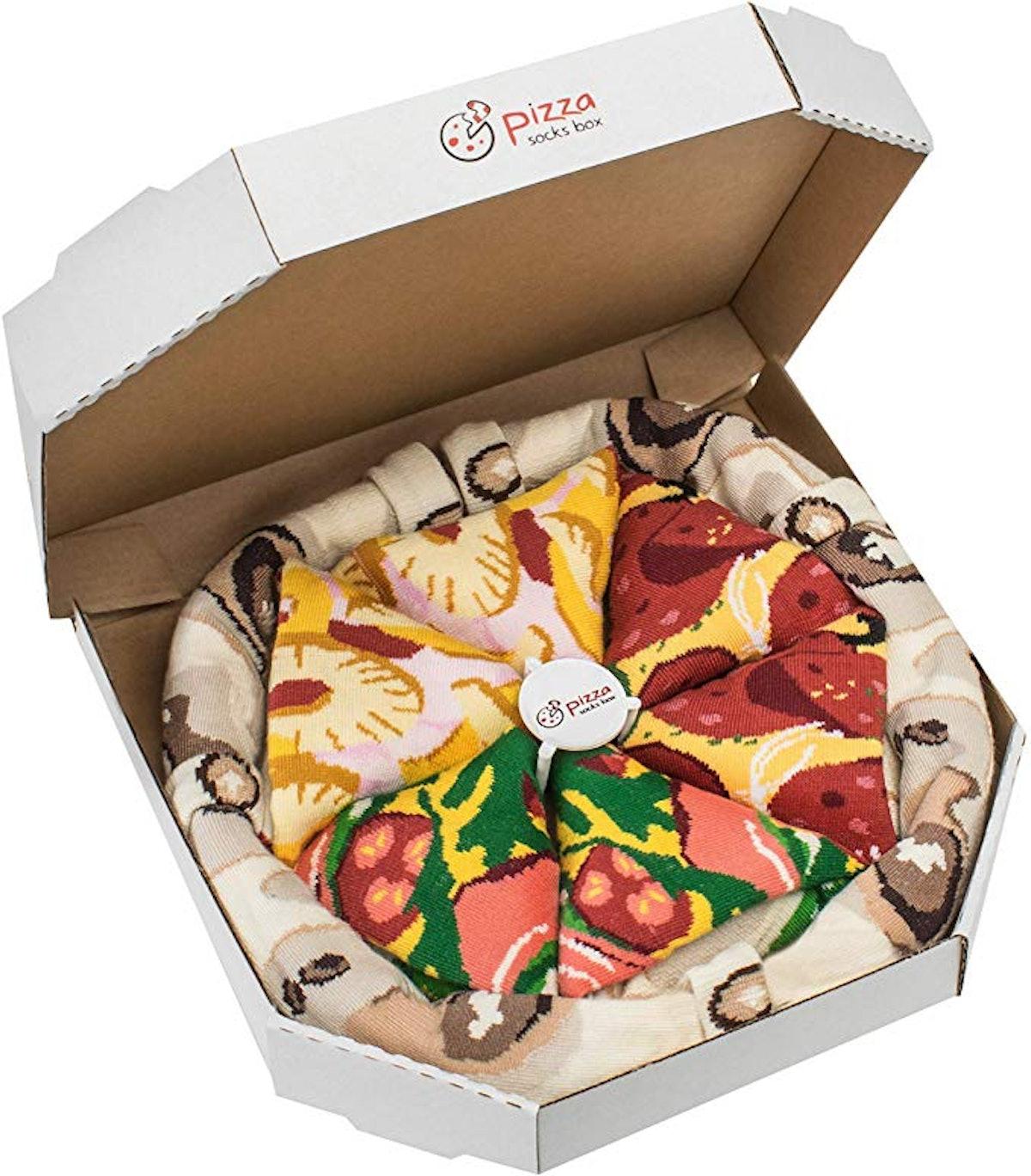 Rainbow Socks Pizza Box (4-Pack)
