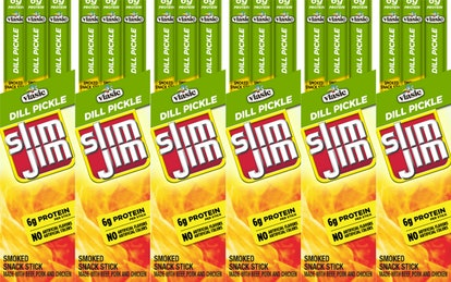 Dill Pickle-Flavored Slim Jims.