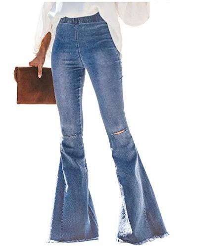 Sidefeel Destoryed Flare Jeans