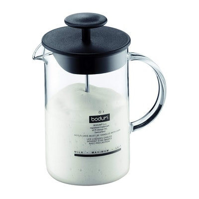 Bodum 1446-01US4 Latteo Milk Frother With Glass Handle