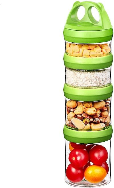 Seleware Stackable Storage Jars (4-Pack)