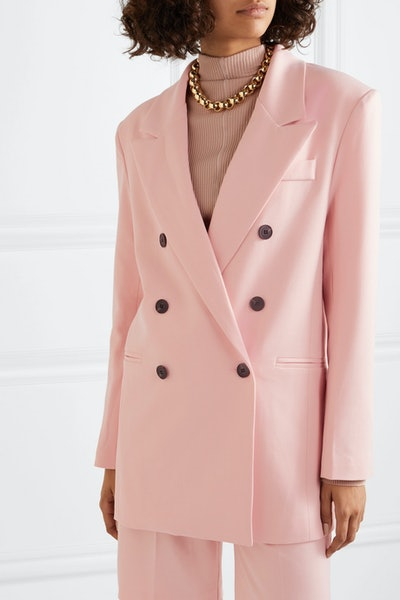 Julie Double-Breasted Gabardine Blazer