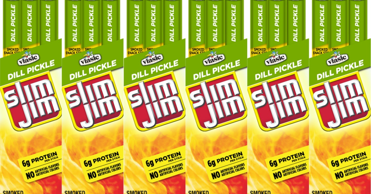 Vlasic Dill Pickle Slim Jims Are About To Hit Shelves