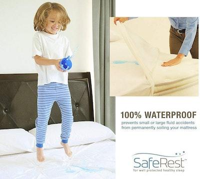 SafeRest Hypoallergenic Waterproof Mattress Protector