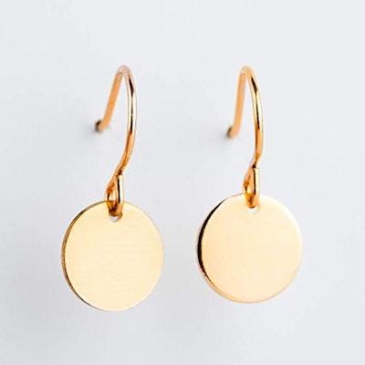14-Karat Yellow Gold Fill Circle Drop Earrings