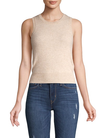 Petite Sleeveless Cashmere Top