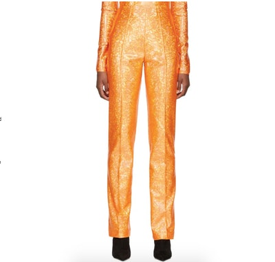 Saks Potts Orange Shimmer Lissi Trousers
