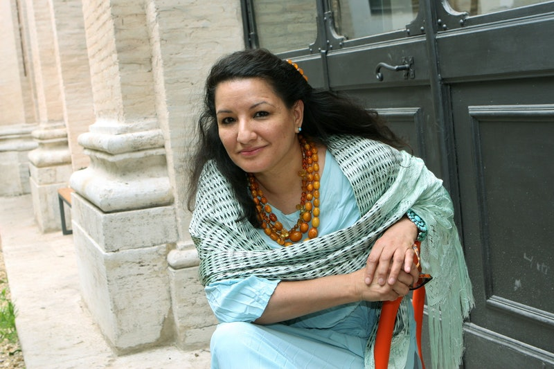 Sandra Cisneros, author of 'The House On Mango Street,' at the Festival of Literature in Rome in 200...