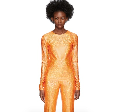 Saks Pottes Orange Shimmer Saya Top