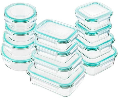 Bayco Glass Food Storage Containers (Set of 24)