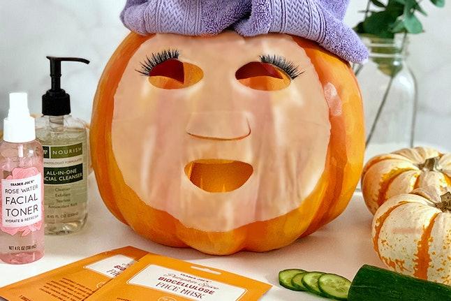 Pumpkin Spice Biocellulose Face Mask, Credit: Trader Joe's
