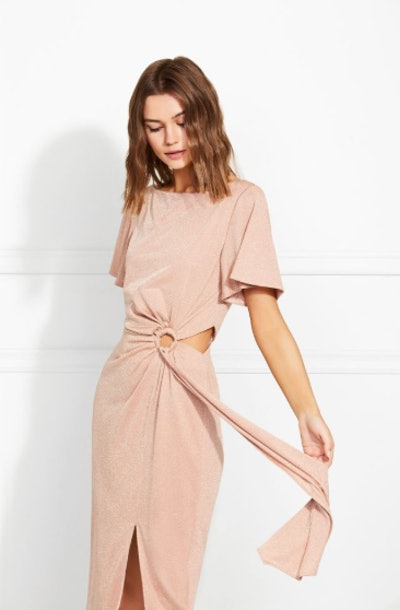 Pauline Metallic Eclat Midi Dress