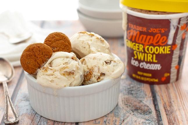 Maple Ginger Cookie Swirl Ice Cream