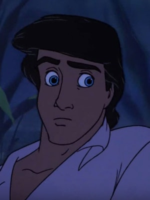 The original animated Prince Eric inspired Graham Phillips' Little Mermaid Live! look