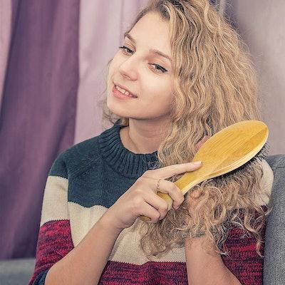Bomyi Wooden Bamboo Hair Brush