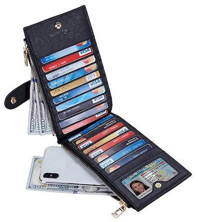 RFID Blocking Bifold Multi Card Case Wallet