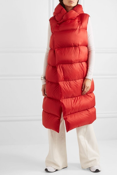 Oversized Quilted Shell Down Coat