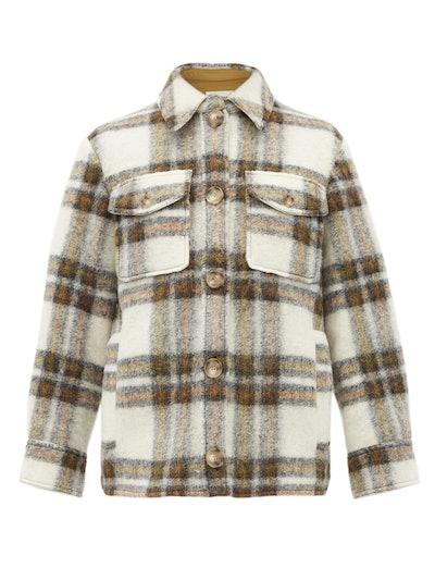 Gaston Oversized Check Wool-Blend Jacket