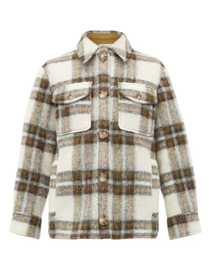 Gaston Oversized Check Wool-Blend Jacket
