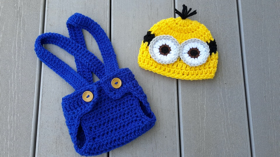 minion Halloween costume for babies in the nicu
