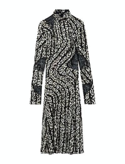 Marble Print Chiffon Dress