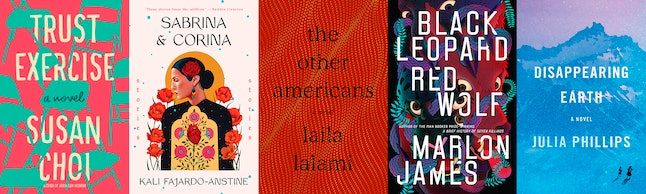 The fiction shortlist for the 2019 National Book Awards includes 'Trust Exercise' by Susan Choi, 'Black Leopard Red Wolf' by Marlon James, and more.
