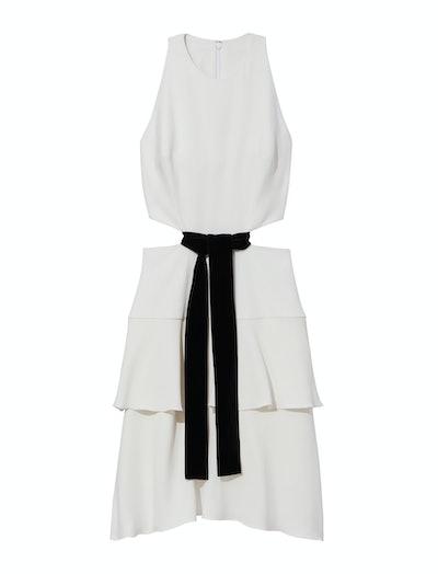 Crepe Cut Out Tie Dress