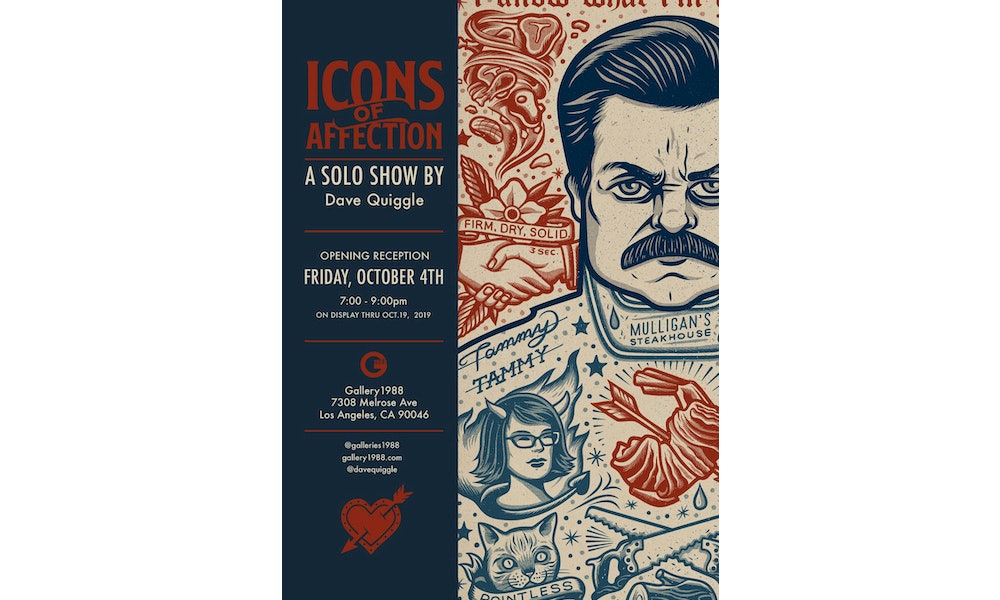 """Gallery: Dave Quiggle's """"Icons of Affection"""""""