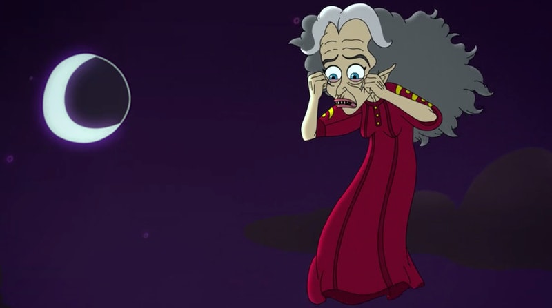 The Menopause Banshee haunts Andrew's mom in Big Mouth Season 3.