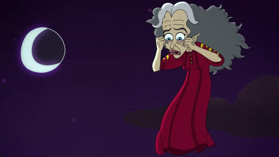 The Menopause Banshee haunts Andrew's mom in Big Mouth Season 3.