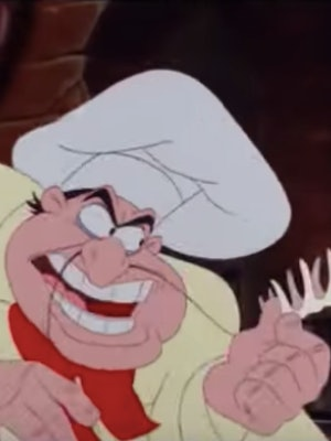 The original animated Chef Louis inspired John Stamos' Little Mermaid Live! look