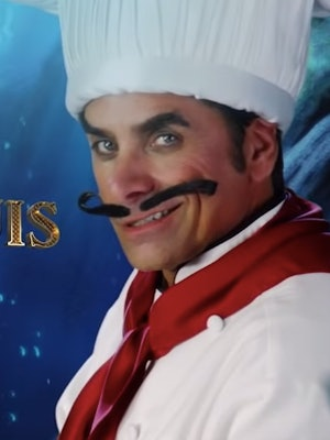 The 'Little Mermaid Live!' cast includes John Stamos as Chef Louis