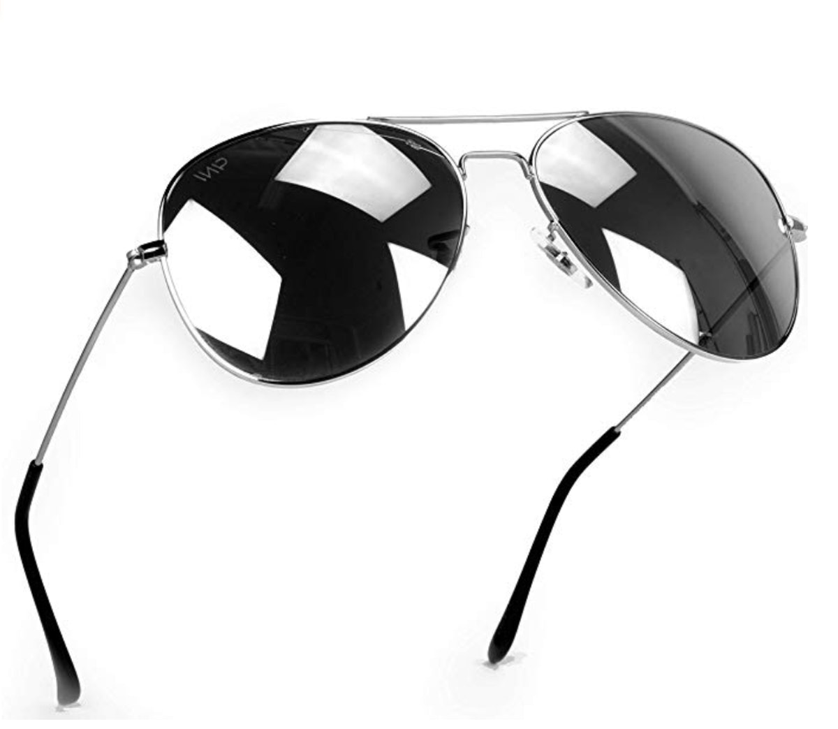 WearMe ProAviator Full Silver Mirror Metal Frame Sunglasses