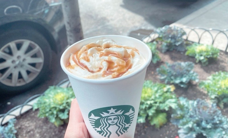Starbucks' Caramel Apple Pumpkin Spice Drink.