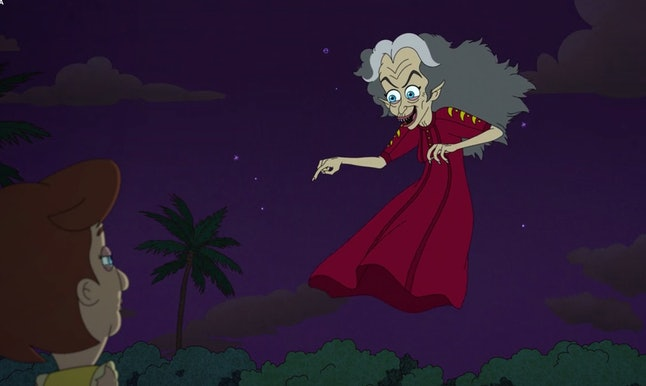 The Menopause Banshee brings Andrew's mom a foreboding message in Big Mouth Season 3.