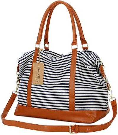 BAOSHA Canvas Travel Weekender Bag