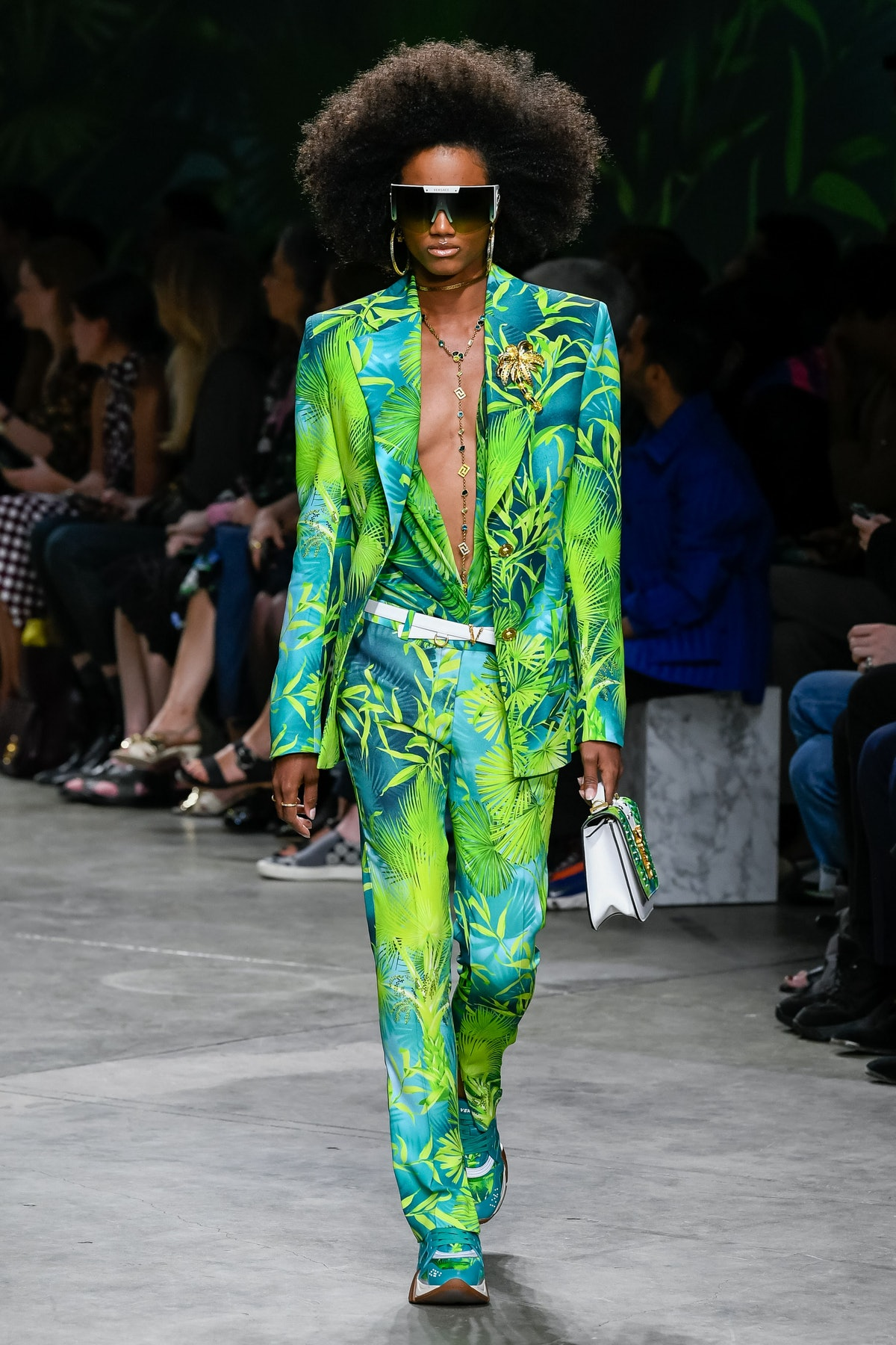 Rainforest trend for Spring 2020 at  Versace