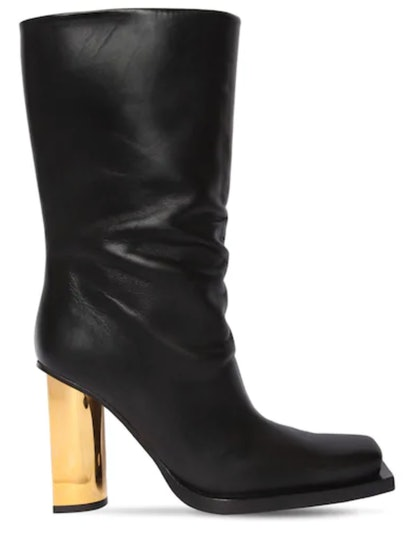 95MM Leather Ankle Boots