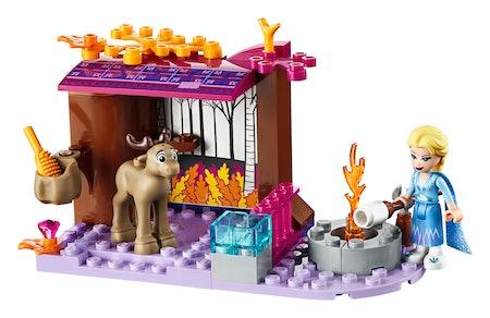 LEGO Disney Frozen II Elsa's Wagon Carriage Adventure Building Kit and Elsa Doll