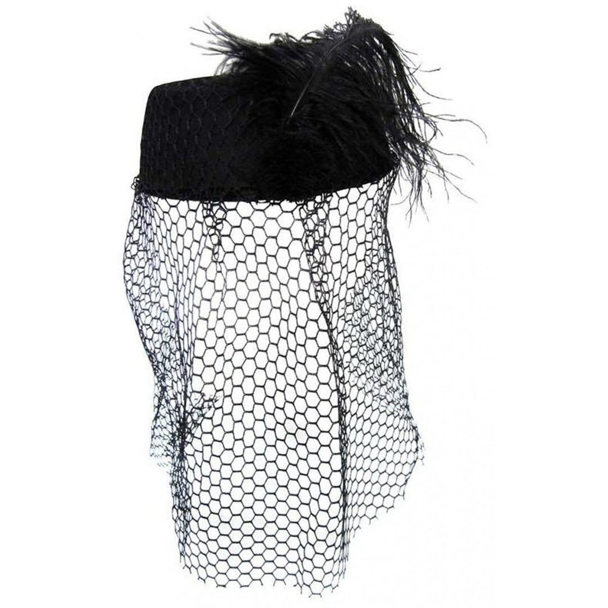 Marketplace Deal  Janet Snakehole Black Pillbox Hat With Veil
